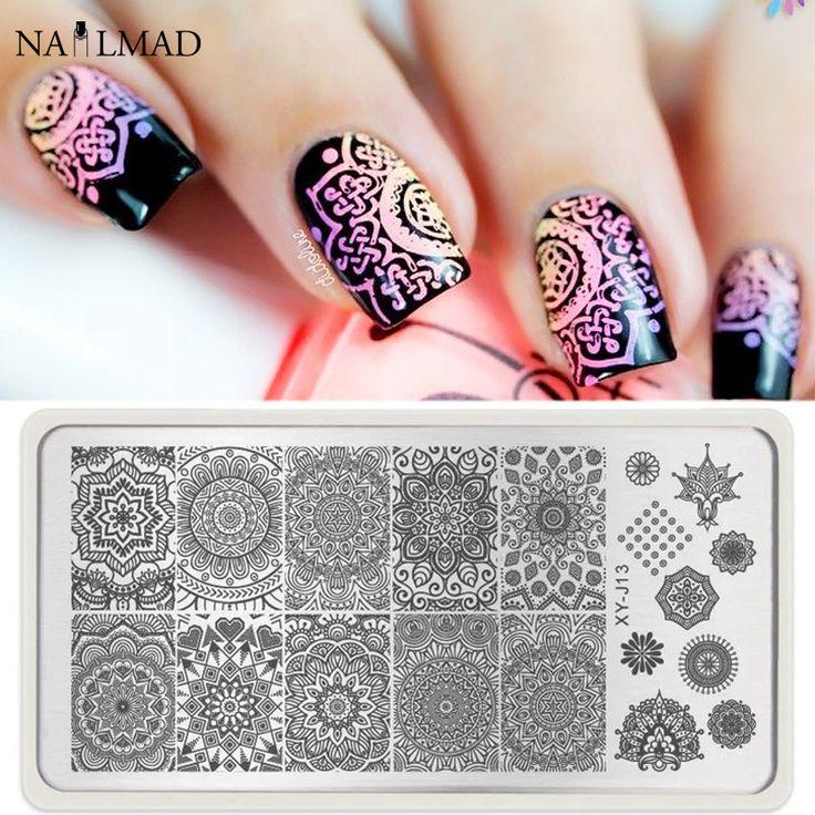 1pc Mandala Nail Art Stamp Plate Mandara Plate Paisley Stamping Image Plate Damask Nail Stamping Plate XY-J13