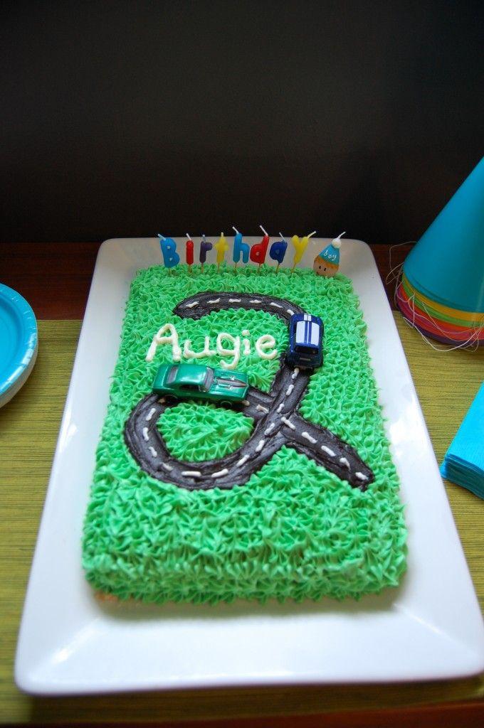 "how to make a cute ""car"" themed cake. Super easy.Car Cakes, Birthday Cars, Birthday Parties, Cars Cake, Cake Ideas, Parties Ideas, Cars Birthday, Birthday Ideas, Birthday Cakes"