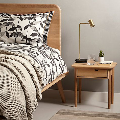 Buy John Lewis Viva Bedside Table, Oak Online at johnlewis.com