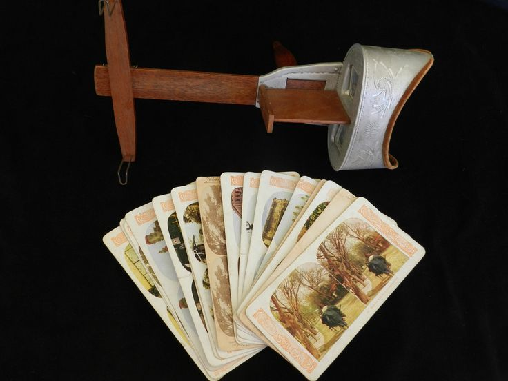 Underwood and Underwood Stereoscopic Viewer with 17 Stereoscopic Photo Cards!