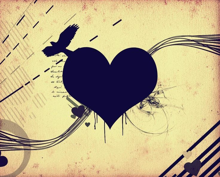 Black Heart HD Backgrounds HD Wallpapers | cool | Pinterest ...