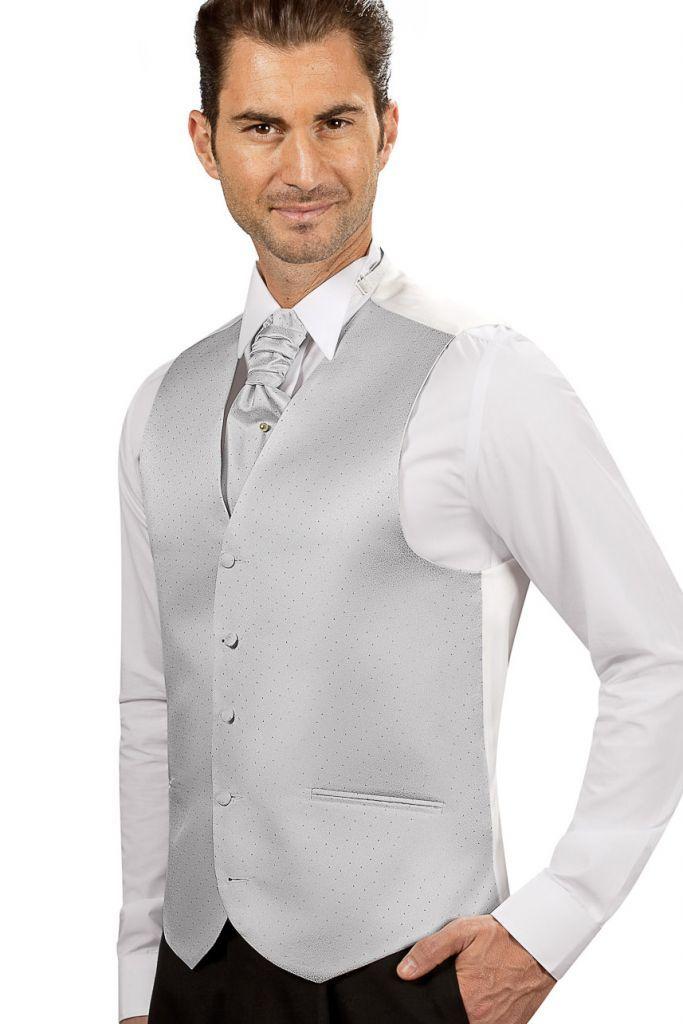 Costume Homme Mariage | Costume > Guy Laurent > Gilet Fantaisie Blanc 2302-01