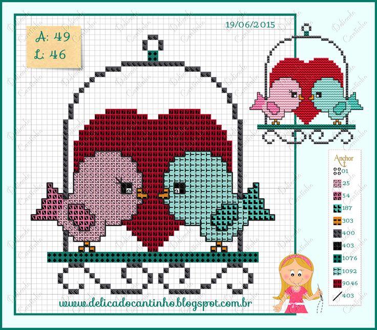 Love birds pattern - Delicado Cantinho
