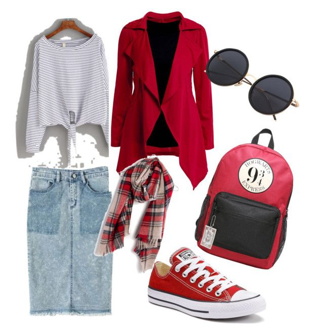 Hogwarts Exspress by kayla-warnell-moore on Polyvore featuring polyvore fashion style Chicnova Fashion Converse Warner Bros. Madewell clothing