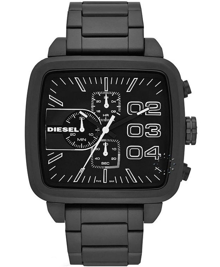 DIESEL Square Franchise Chrono Black Stainless Steel Bracelet Η τιμή μας: 234€ http://www.oroloi.gr/product_info.php?products_id=35324