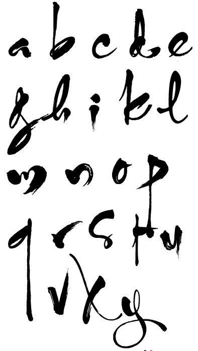 Kết quả hình ảnh cho bảng chữ cái thư pháp