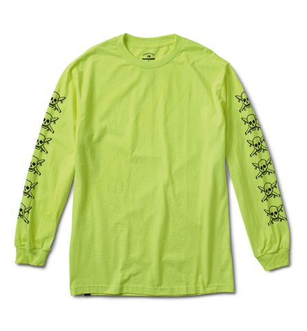Fourstar Pirate Long Sleeve T-Shirt Safety Green