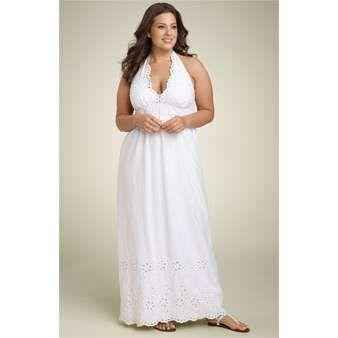 Cheap white lace maxi dress