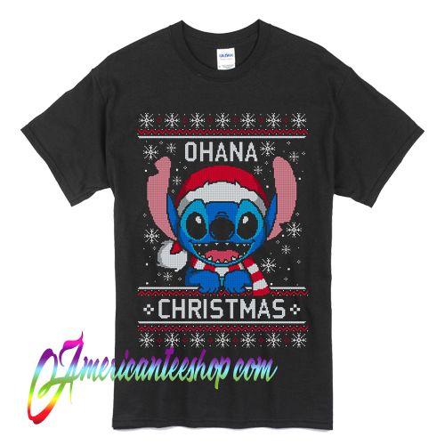 Stitch Ohana Christmas ugly T Shirt