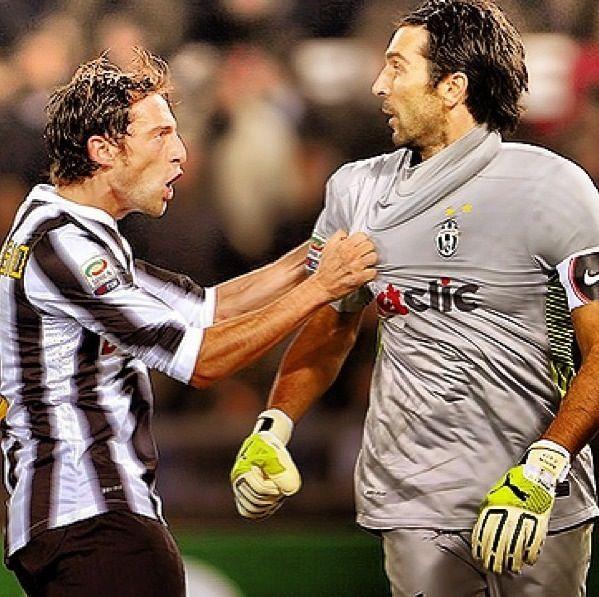 Marchisio and Gigi Buffon ... DIDN'T YOU HEAR MY CALL!!!!