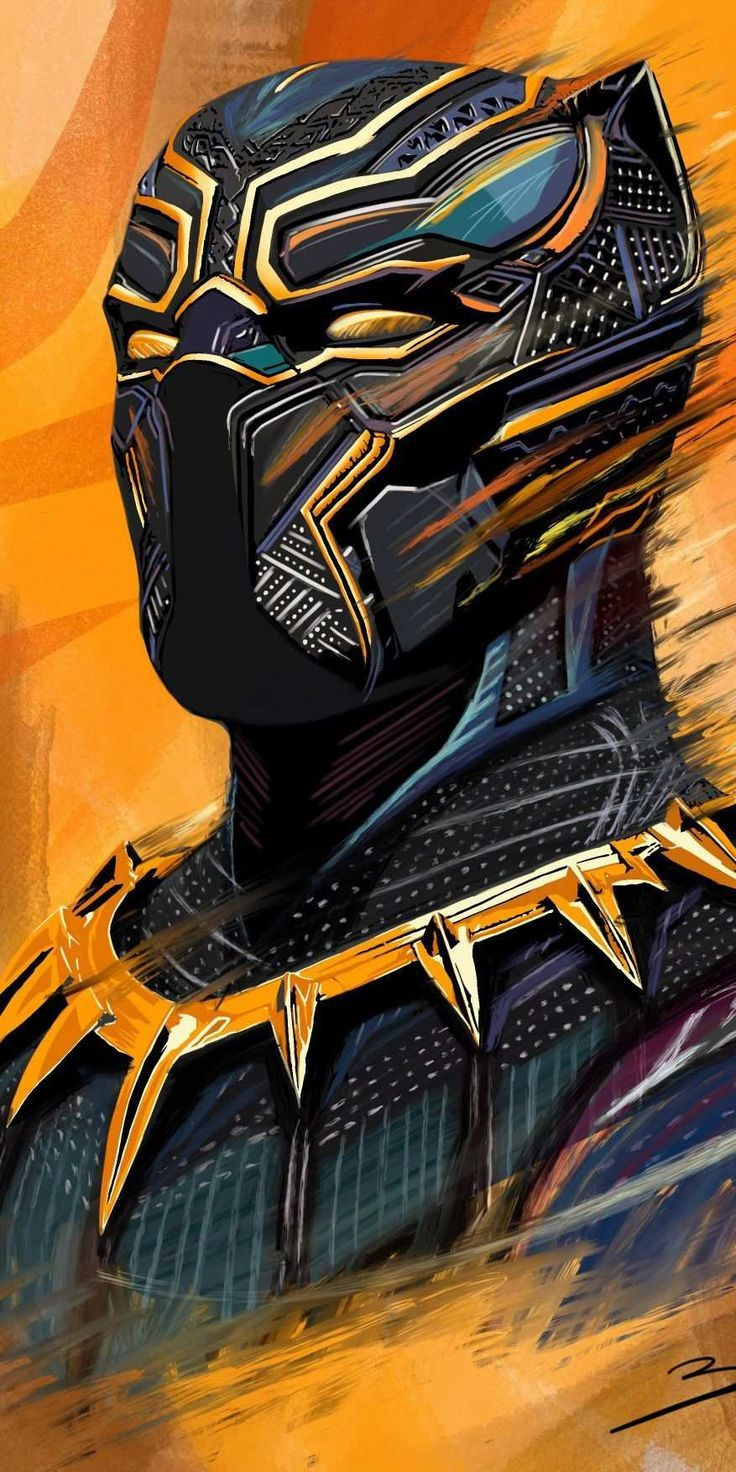 Iphone Wallpapers – Black Panther Art HD iPhone Wallpaper- Mila Valencia-#iphonebackground #iphonewa…