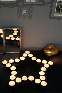 Black Star Tea Light Holder Centre Piece