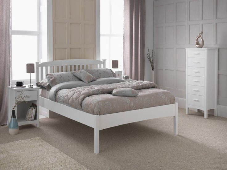 The Eleanor High bed frame in white is manufactured from the Brasilensis tree. The environmentally friendly hevea wood is not only a very dense timber but is extremely strong making this shaker styled bed frame extremely durable.
