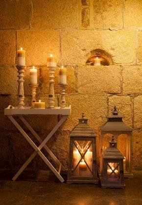 Grey Wash Wooden Lantern Tall - £53.00 - Hicks and Hicks