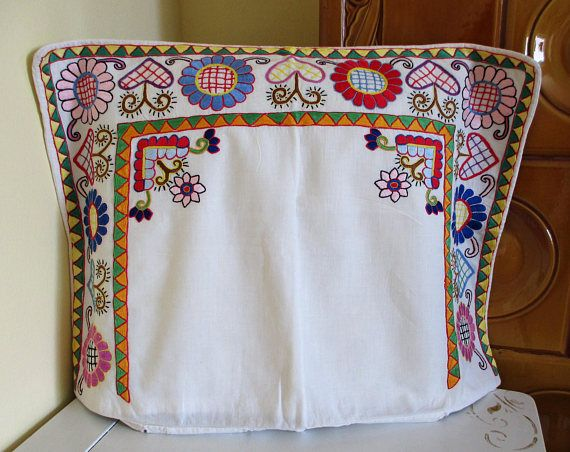 261. Hand embroidered pillowcover hand embroidered