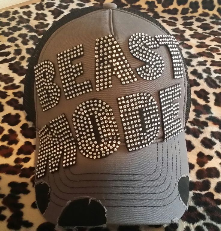 A personal favorite from my Etsy shop https://www.etsy.com/listing/175591077/rhinestone-beast-mode-hat