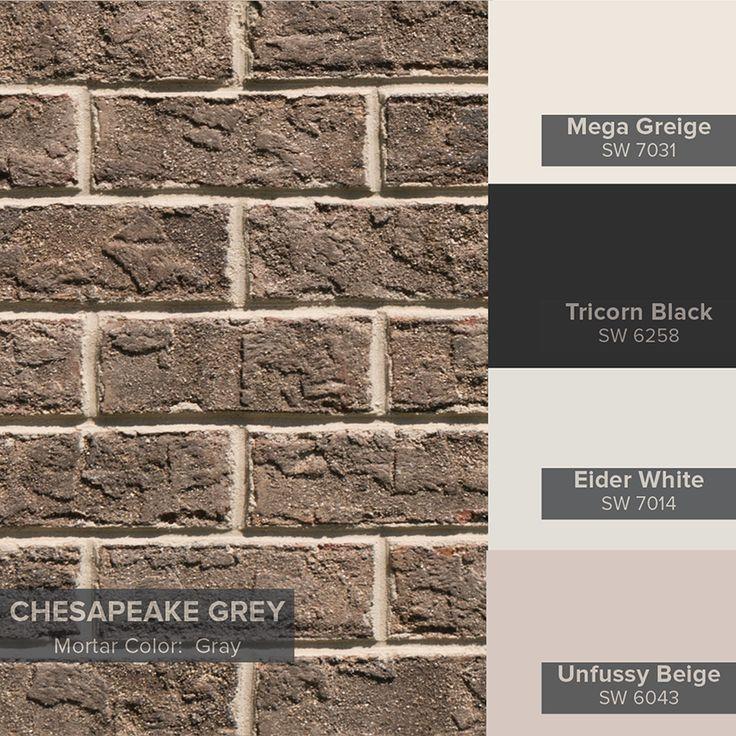 Brick Home Exterior Color Schemes: Triangle Brick In 2019