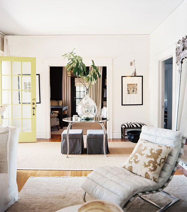 Foyer From Lonny Mag Great Table And Vase Painted Front Door Find This Pin More On Golden White Décor