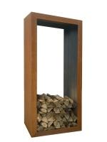 Corten steel houtopslag180x90cm