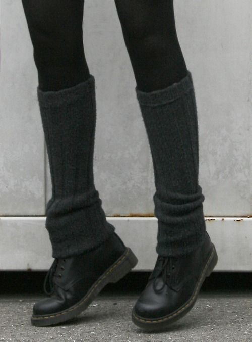 Legwarmers/socks and boots. Fall/winter style. Actually cant wait to wear my legwarmers again!