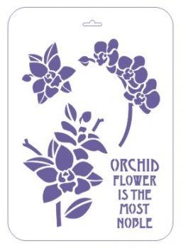 """Plantilla de plástico reutilizable, 31h21 cm, """"Phalaenopsis Orquídea"""""""