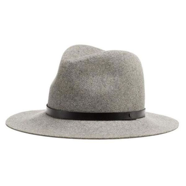 Rag and Bone Wide Brim Oxford Grey Fedora (15,275 MKD) ❤ liked on Polyvore featuring men's fashion, men's accessories, men's hats, mens fedora hats, mens wide brim hats, mens wide brim fedora hats and mens floppy hat