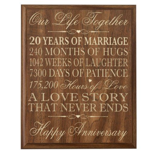20th Wedding Anniversary Gift Ideas For Couple : ... .com20th Wedding Anniversary Wall Plaque Gifts for Couple, 20th