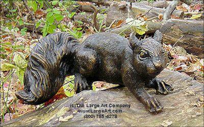 Squirrel bronze statue | Animal Statues | Animal Statue | Life-Size | Garden Statues | Garden Sculptures | Wildlife Bronze Sculptures | The Large Art Company