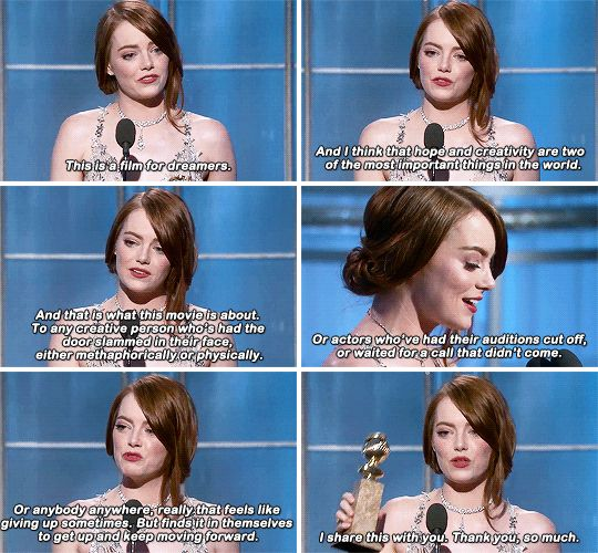 Her speech was all kinds of heartfelt and emotional and I'll be honest, it made me cry for about the 8937294837th time that night.