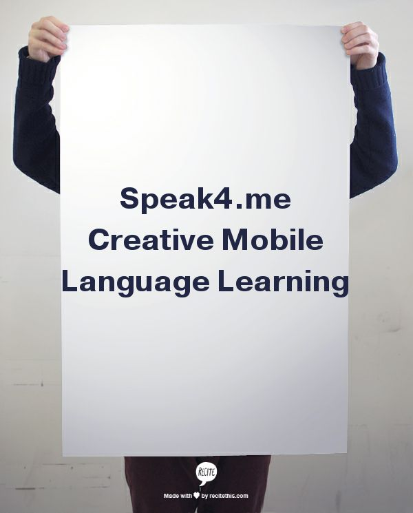 Speak4.me Creative Mobile Language Learning