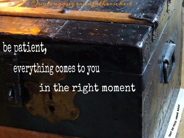 Be patient...