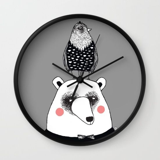 bear & bird society6.com/MiraMallius