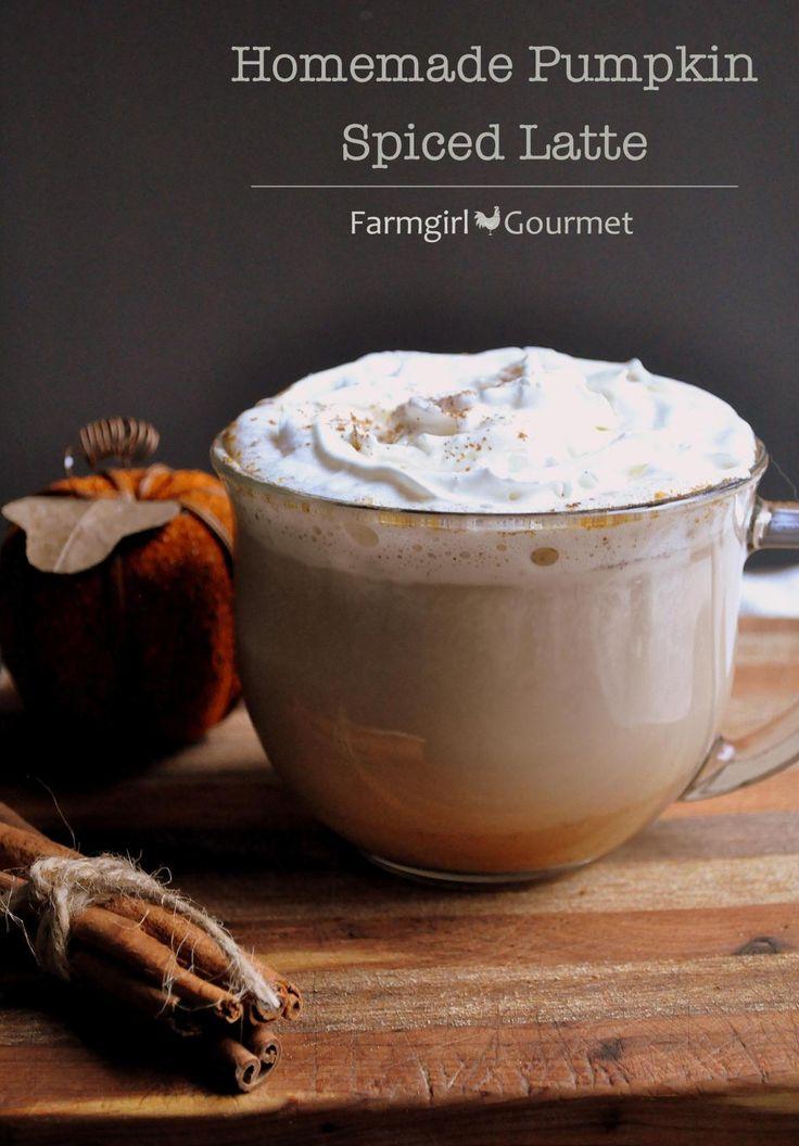 Homemade Pumpkin Spiced Latte (via farmgirlgourmet.com) Makes ya feel warm and fuzzy all over, doesn't it? #pumpkinspiced #latte #fall