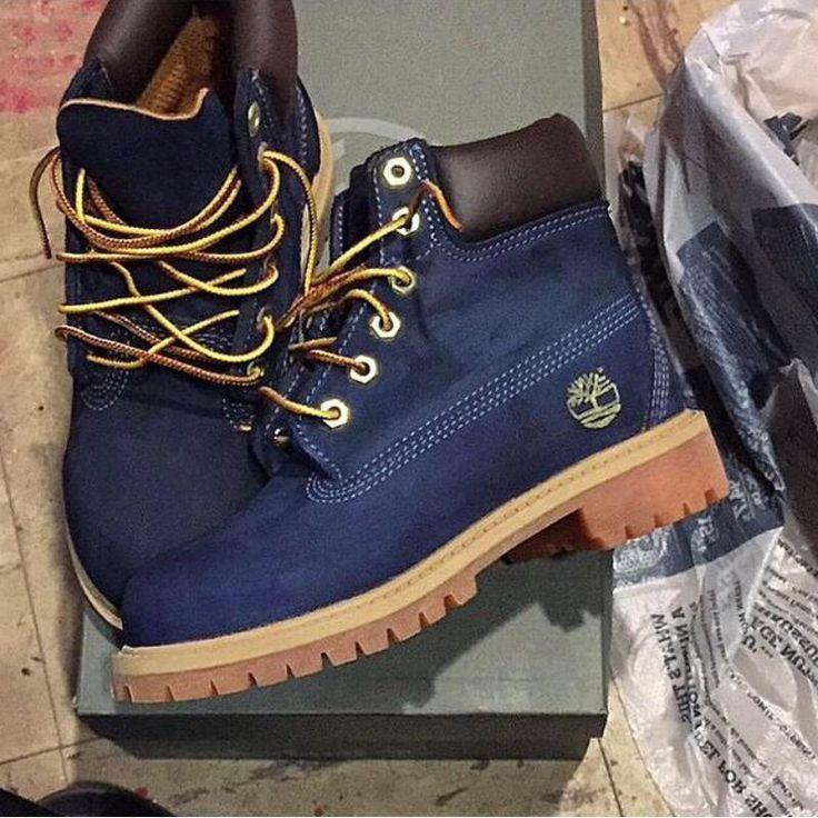 Les fameuses Yellow boots de Timberland mais en bleues ! style menstyle\u2026