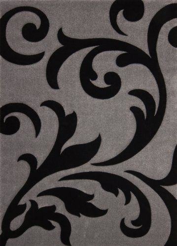 Teppich Wohnzimmer Carpet modernes Design Blumen RUG France-Paris Silber/Schwarz 140x200cm | Teppiche günstig online kaufen https://www.amazon.de/dp/B015D0FRZY