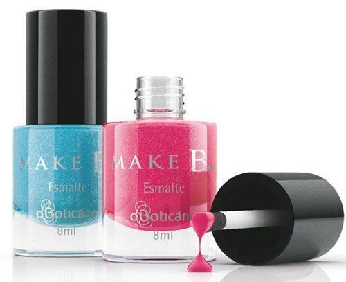 Entre as diversas marcas, tonalidades e preços, a empresa O Boticário lança sua primeira linha de esmaltes, a Make B Infinity Collection, fabricados na