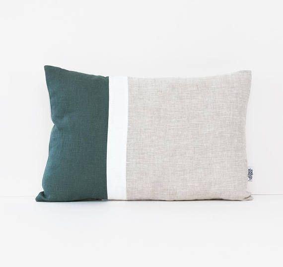 Outstanding Color Block Pillow Covers Dark Green Linen Cushion Cover Uk Ibusinesslaw Wood Chair Design Ideas Ibusinesslaworg