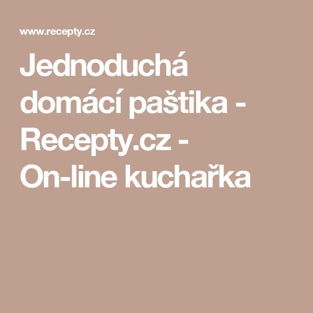 Jednoduchá domácí paštika - Recepty.cz - On-line kuchařka