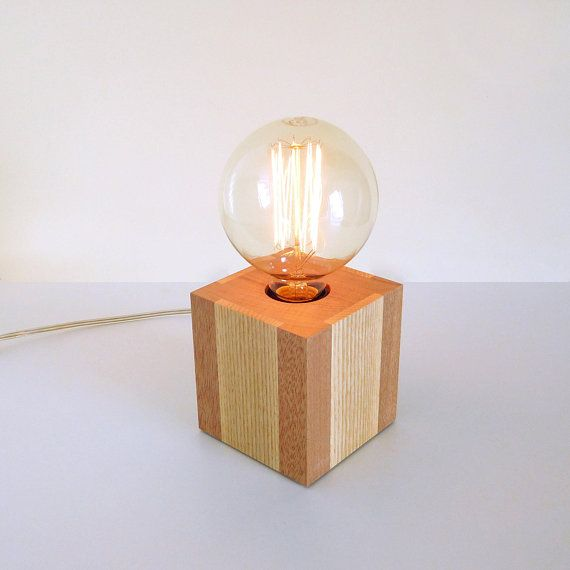 Hey, I found this really awesome Etsy listing at https://www.etsy.com/listing/600367748/modern-wood-table-lamp-small-cube-edison