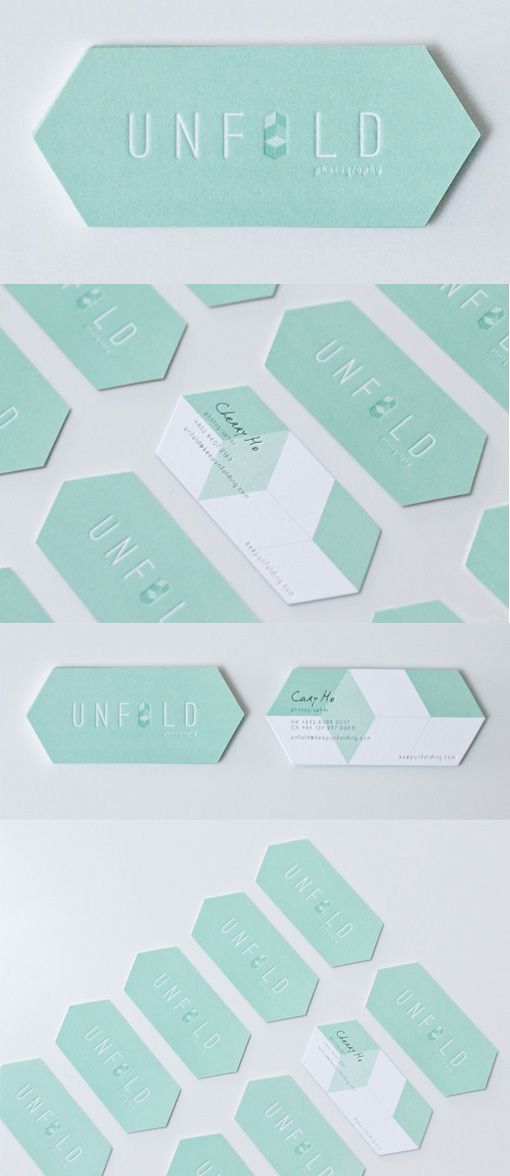 Beautiful Die Cut Letterpress Business Card Design For A Photographer