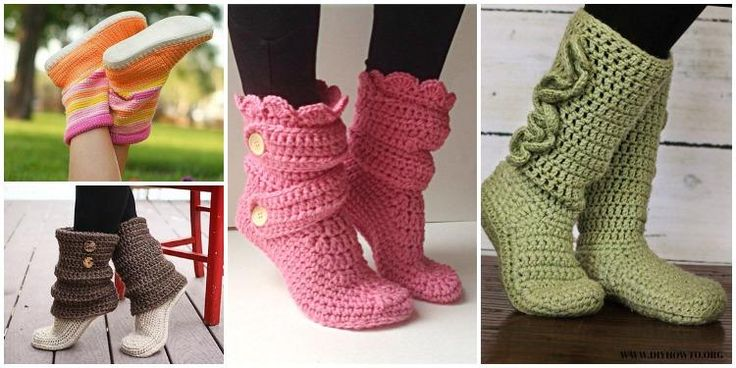 16 High Knee Crochet Slipper Boots Patterns to Keep Your Feet Cozy