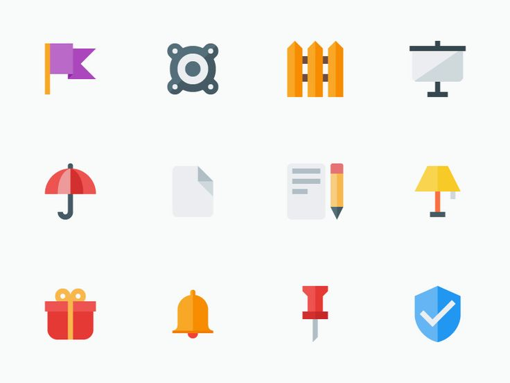 A lovely pack of 12 flat material design icons that you can start using in your upcoming projects. They will enhance either your web or app designs. They were made using vibrant colors so they go well with any type of website or application. You can check out more icons by MaxVectors on their website.