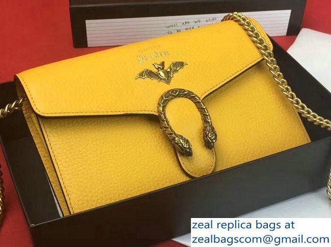 4662b641d7f Gucci Garden Dionysus Mini Chain Wallet Bag 516920 Bat Yellow 2018 ...