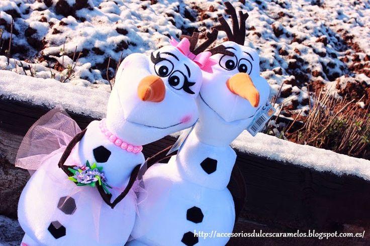 Olyf, novia para Olaf frozen muñeco de nieve, muñeca de nieve /Girlfiend bride to olaf snowman http://accesoriosdulcescaramelos.blogspot.com.es/2015/02/olyf-novia-para-olaf.html