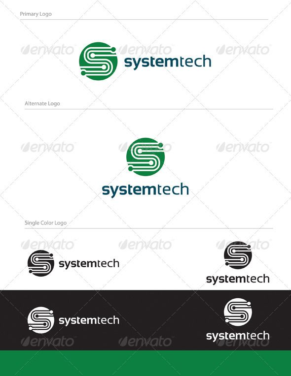 System Tech Logo Design - LET-005 #GraphicRiver Full Vector Logo Design. Unique and modern logo suitable for electronics, informatics or IT businesses, any company related to safety technology, security or alarms, software, computer, technology and much more. Graphics Files Included: 1- logo.eps 2- logo.pdf 3- logo.ai 4- system-tech-logo.jpg Fonts used in the design are free fonts. Font Name: Sansation Can be downloaded here: .dafont /sansation.font Created: 4February12…