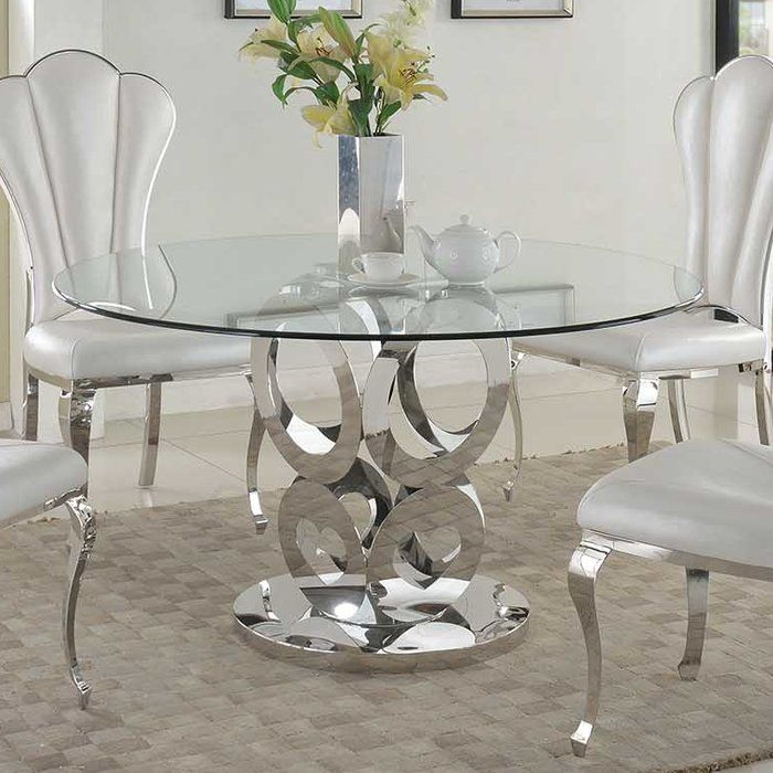 Geir Dining Table Glass Dinning Table Glass Dining Table