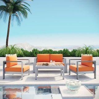 Shore 6-piece Outdoor Patio Aluminum Sectional Sofa Set | Overstock.com Shopping - The Best Deals on Sofas, Chairs & Sectionals