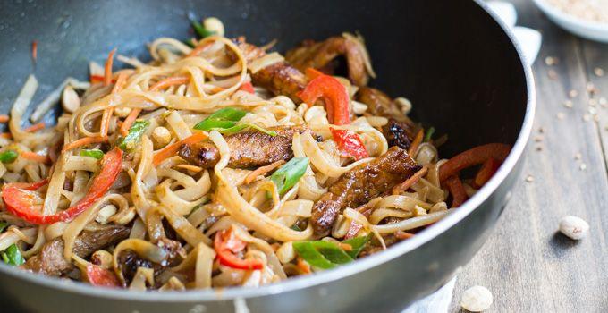 Pork Pad Thai | Garnish & Glaze
