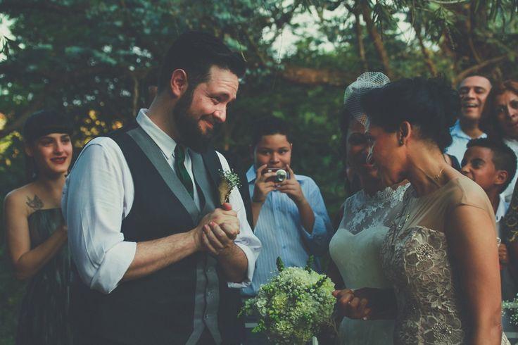 REAL BRIDE { Laila + Rafael } Photo Crewactive Photography | short AUDREY HEPBURN wedding gown by A MODISTA |