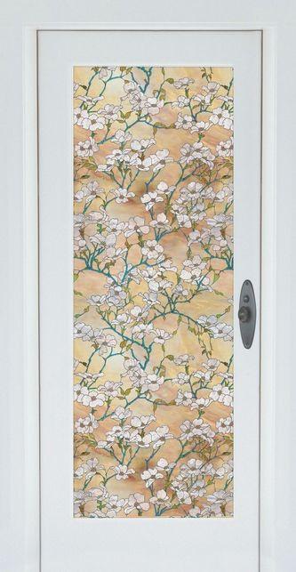 Dogwood Stained Glass Window Film.